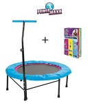 TV Unser Original POWER MAXX Fitness-Trampolin inkl. DVD Basic + DVD Fitness + DVD Professional